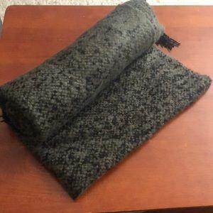 Olive Green Blanket Scarf
